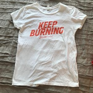 Orangetheory Fitness White Keep Burning Tee